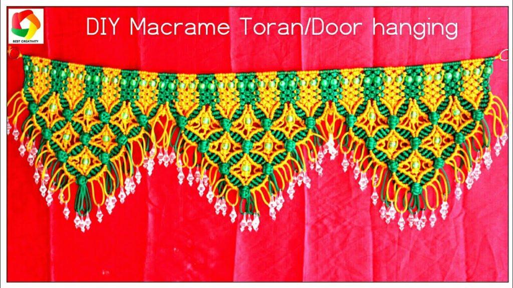DIY Tutorial Handmade Macrame Toran Door hanging 2