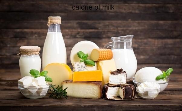 calorie of milk